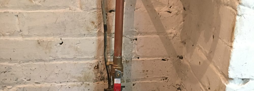 New water pipe in Toronto basement