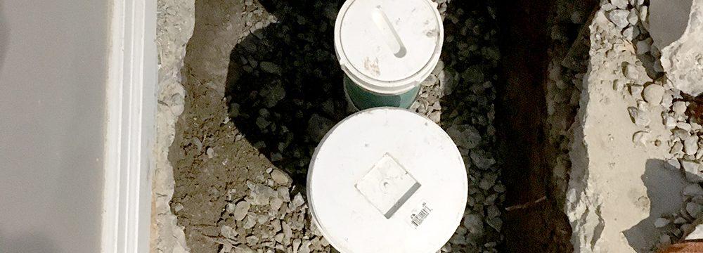 Backwater valve install
